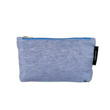 shift linen/cotton purse, blue