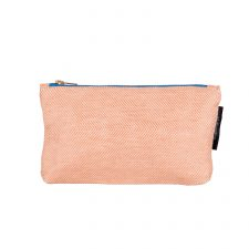 shift linen/cotton purse, coral