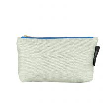 shift linen/cotton purse, green