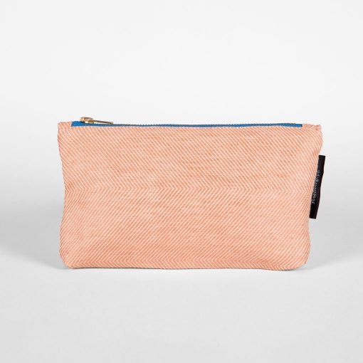 Shift purse, linen/cotton, coral