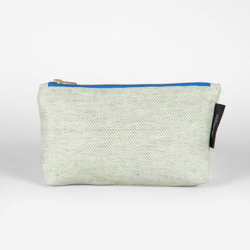 Shift purse, linen/cotton, green