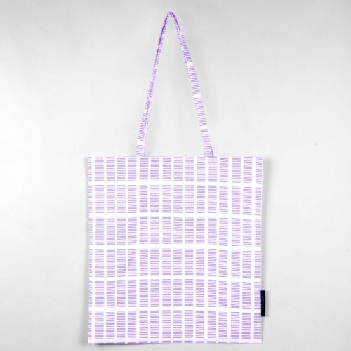 Shopping bag, Tile lavender, organic cotton, design by Anne Rosenberg, RosenbergCph