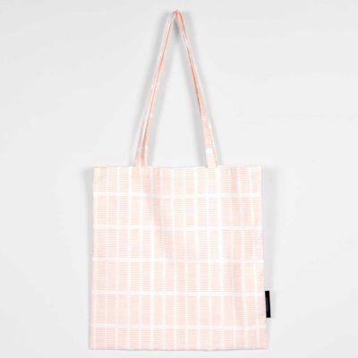 Shopping bag, Tile pale rose, organic cotton