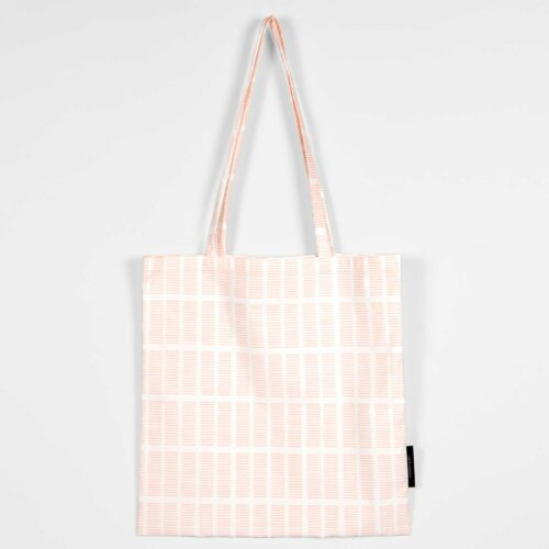Shopping bag, Tile pale rose, organic cotton
