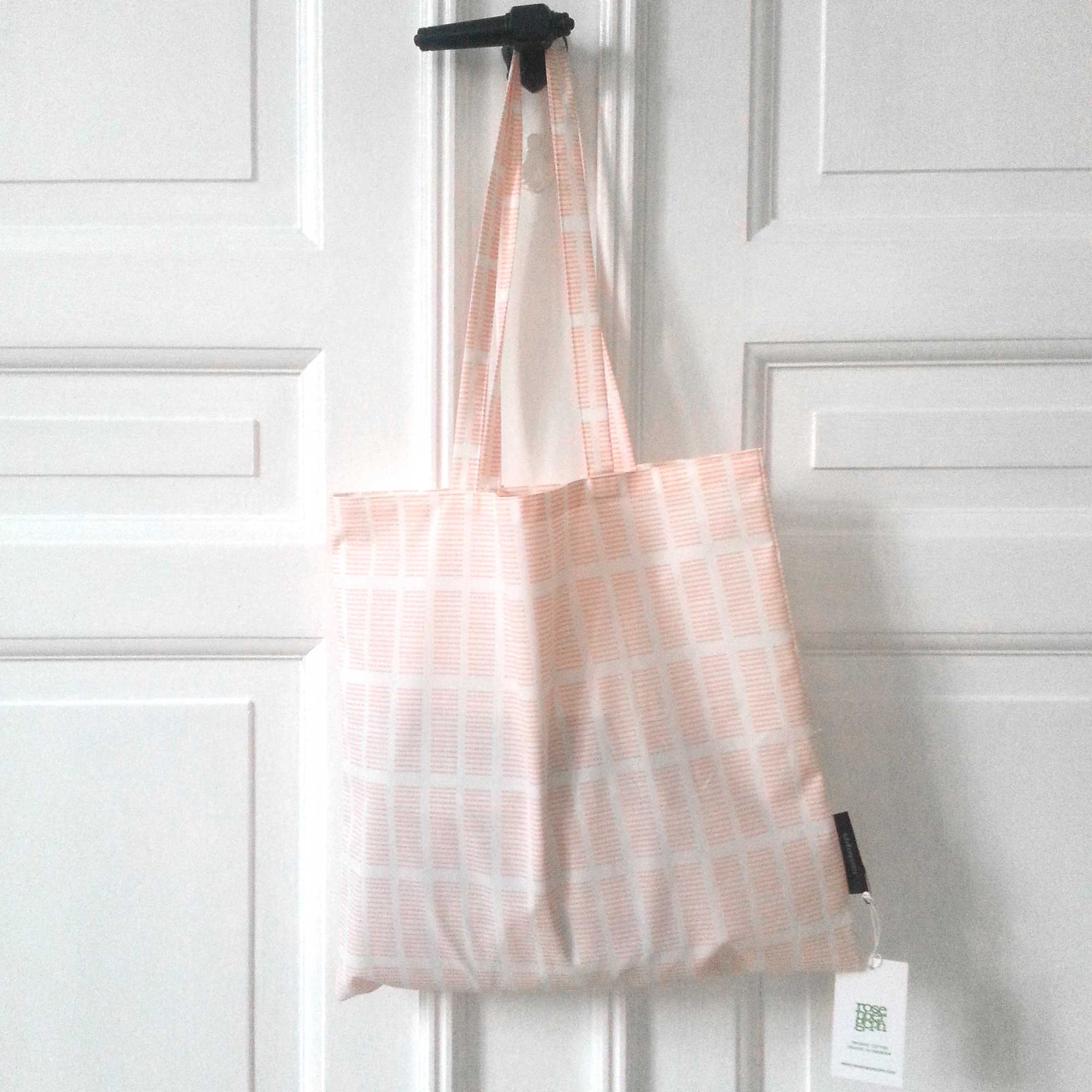 Shopping net, Tile pale rose, organic cotton