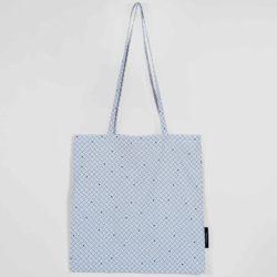 Shopping bag, Weave navy blue, organic cotton