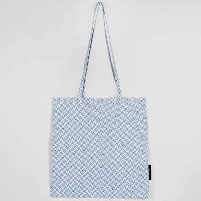 Shopping bag, Weave navy blue, organic cotton