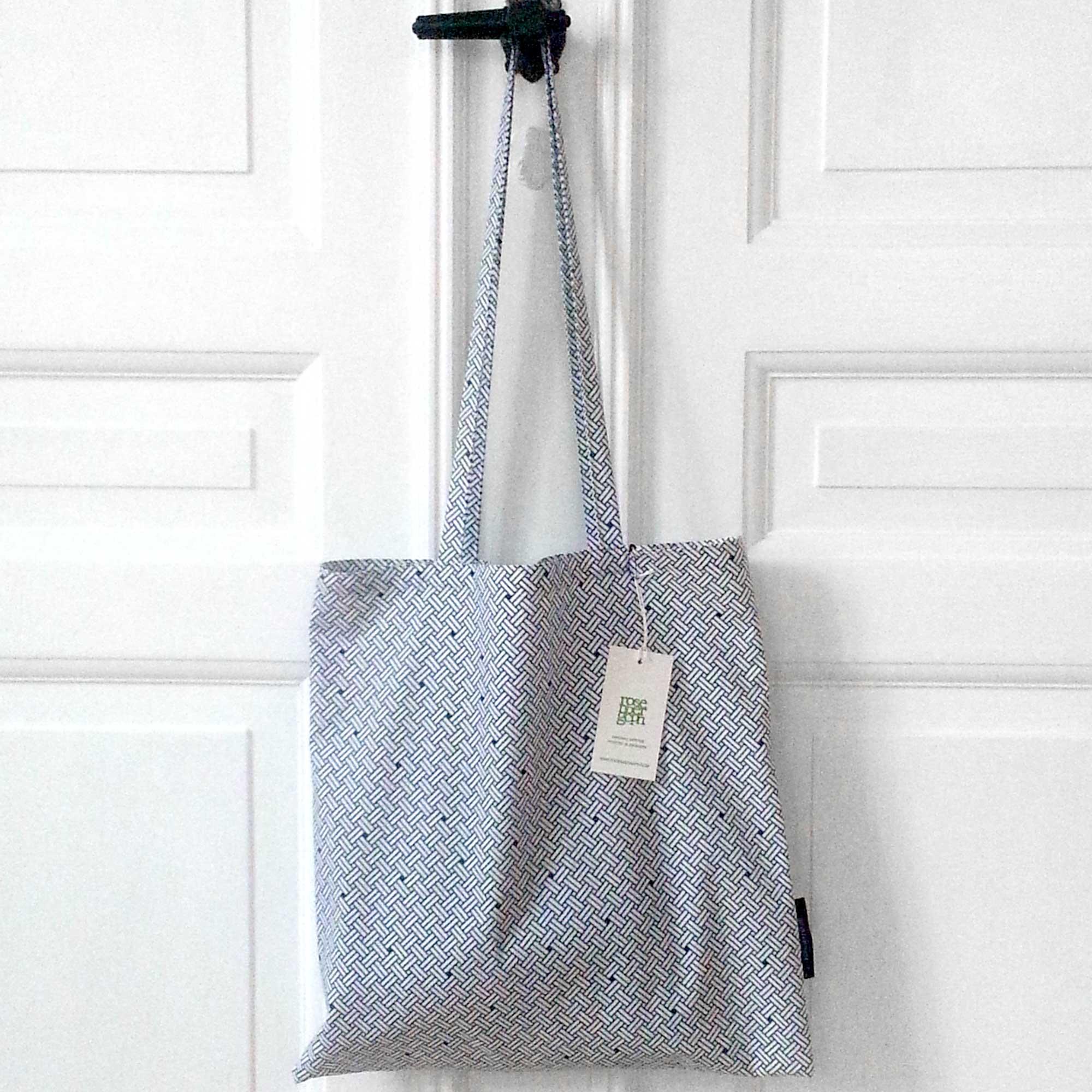 Shopping net, Weave navy blue, organic cotton