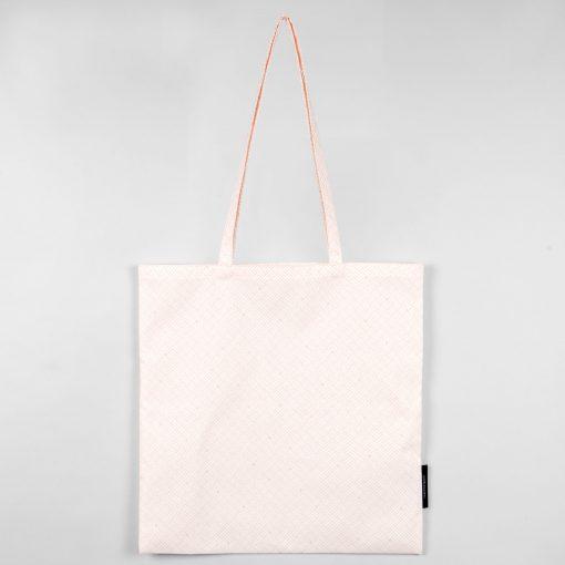 Shopping bag, Weave pale rose, organic cotton