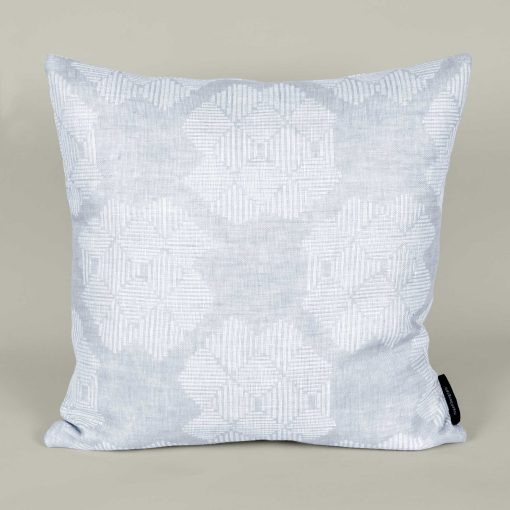 Square cushion, Desert Roses, Grey, 100% linen