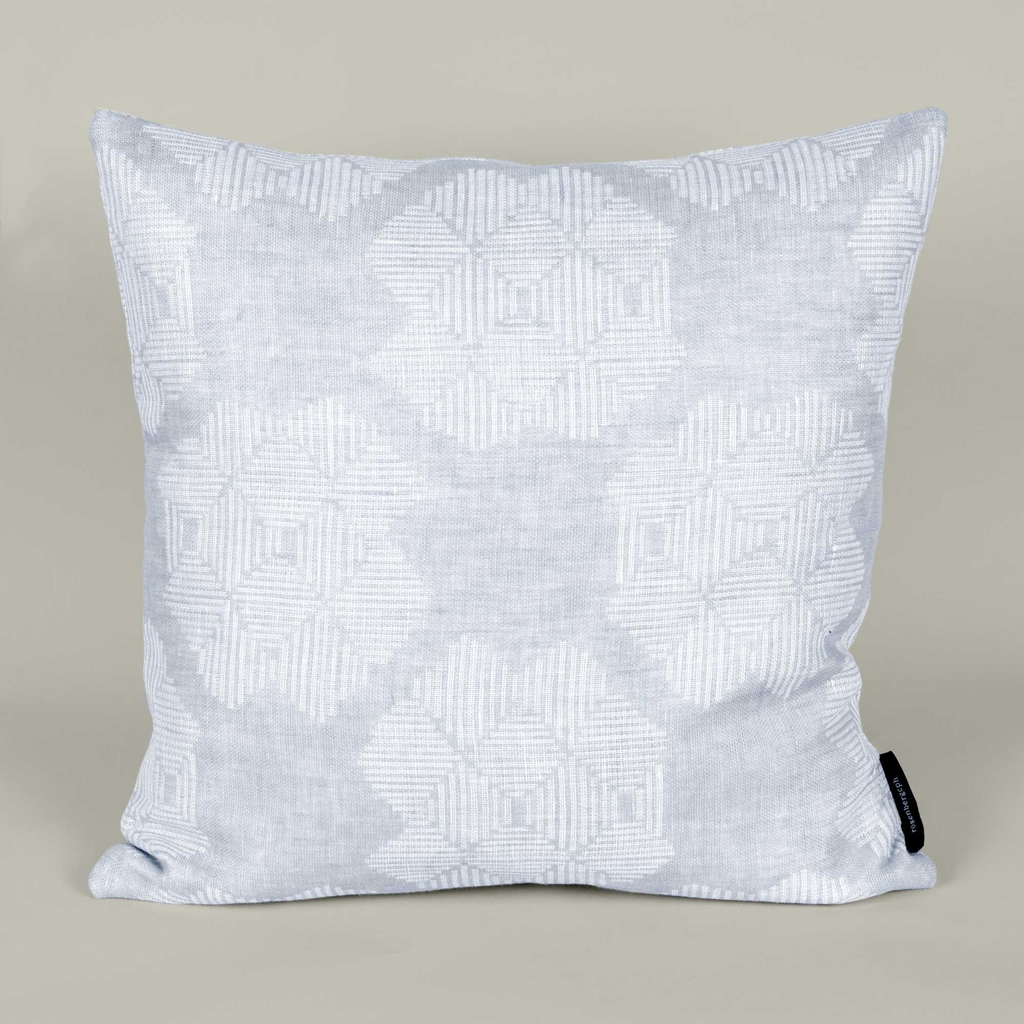 Square cushion, Desert Roses, Grey, 100% linen