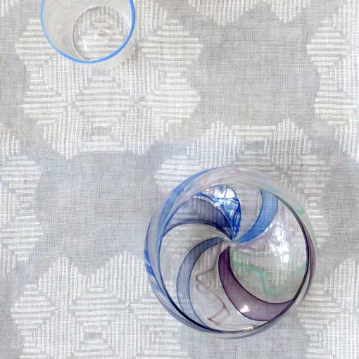 Table cloth, 100% linen, Desert Roses