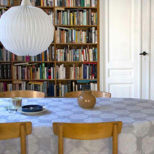 Table cloth, Desert Roses, Grey, 100% linen