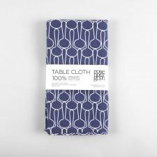 Table cloth, big drop blue