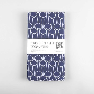 Table cloth, big drop blue