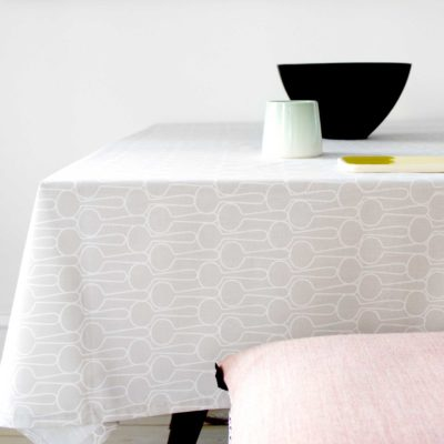 Table cloth, big drop grey