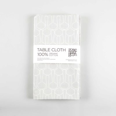 Table cloth, big drop grey