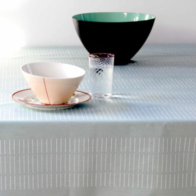 Table cloth, dash aqua