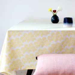 table cloth, obi yellow