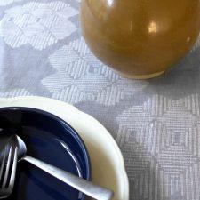 Table cloth, Desert Roses Grey, 100 % Linen