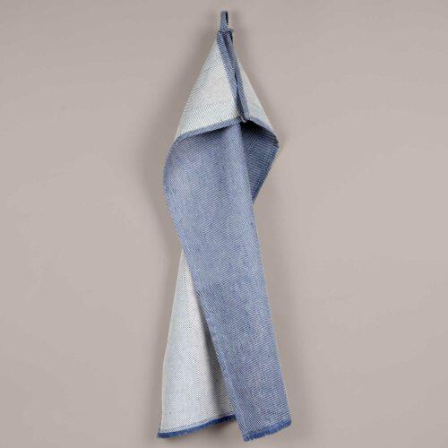 Tea towel, linen/cotton, indigo blue