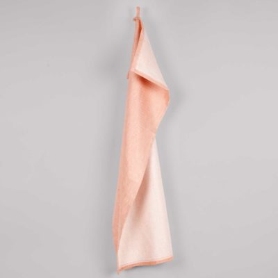 Tea towel, linen/cotton, dusty coral