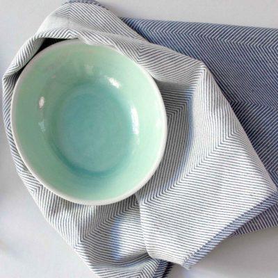 Tea towel, linen/cotton