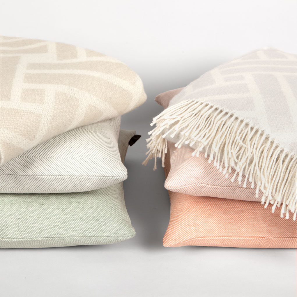 wool throws and cushions