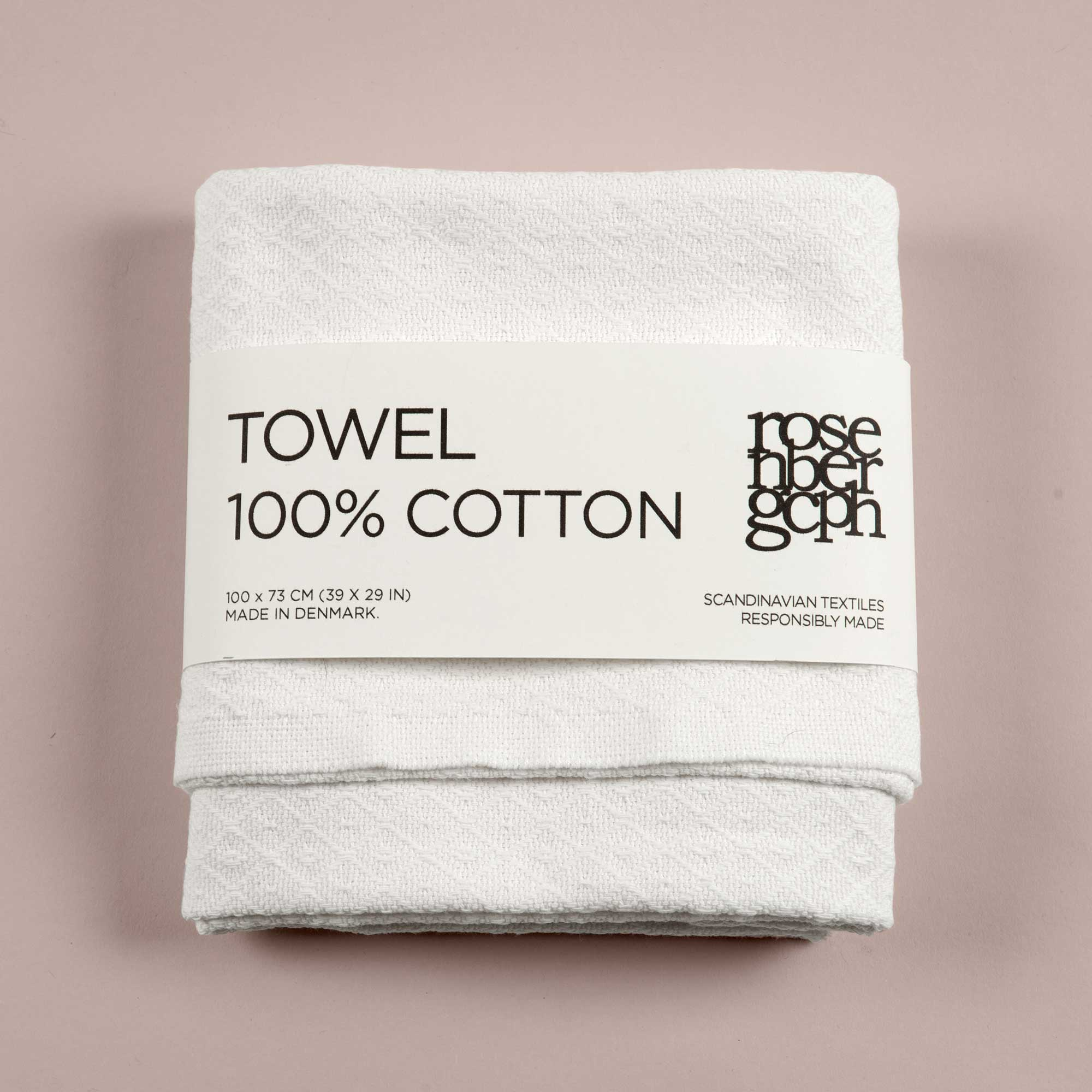 Towel, harlequin weave, 100% cotton, Selected by RosenbergCph