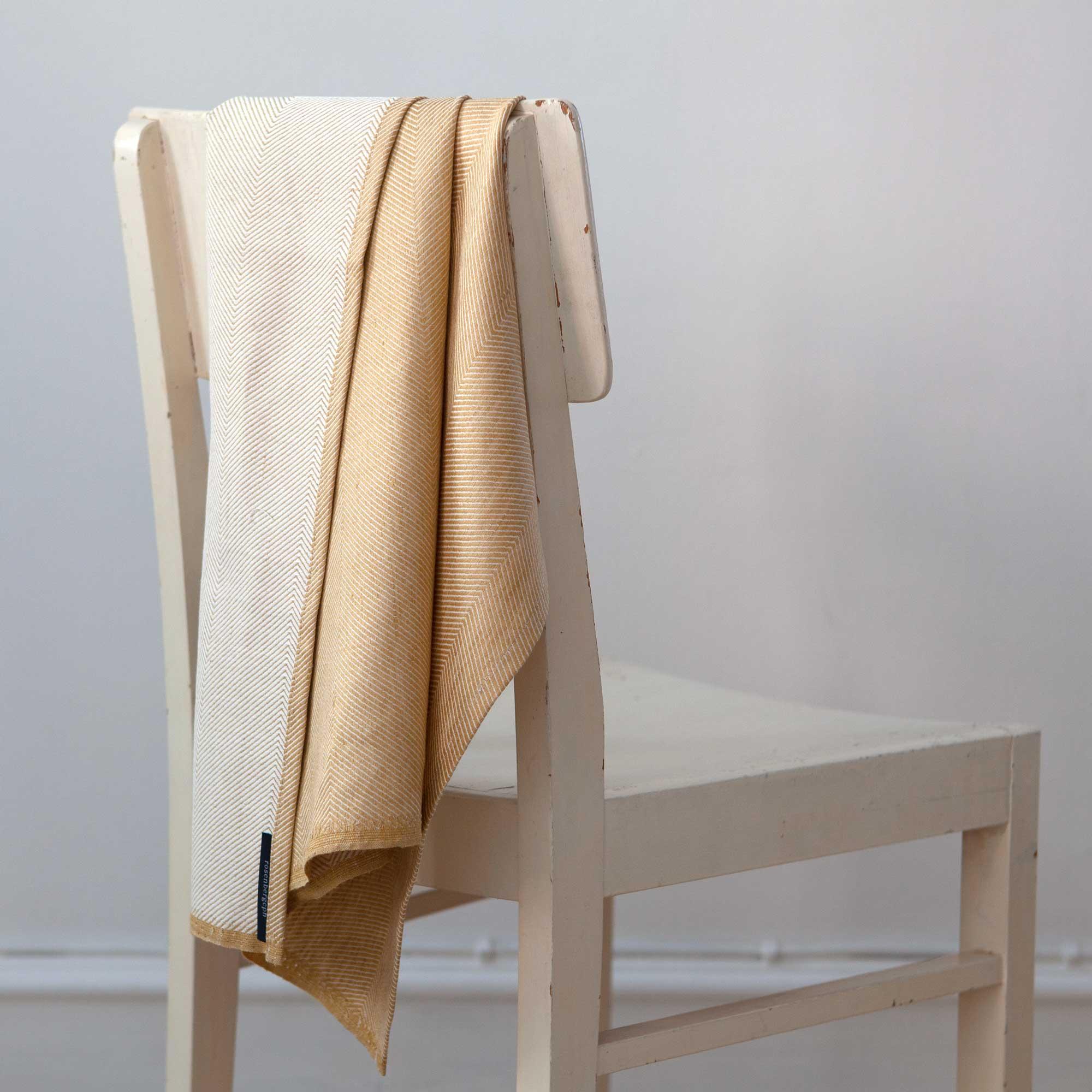 Towel, hay yellow, linen/cotton, design by Anne Rosenberg, RosenbergCph