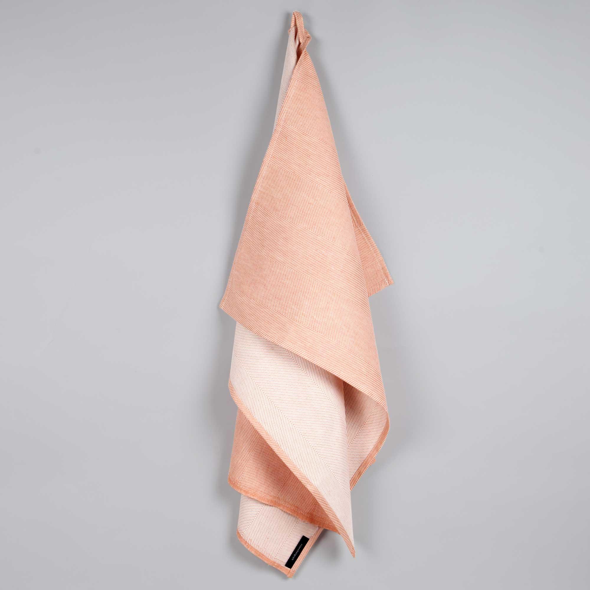 Towel, linen/cotton, dusty coral