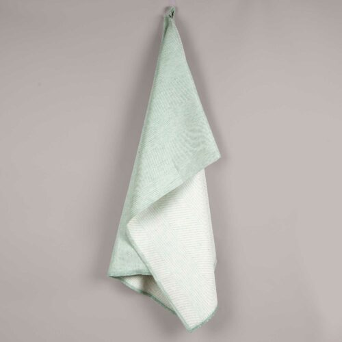 Towel, linen/cotton, aqua green