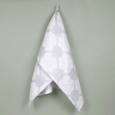 Towel, Desert Roses grey, 100% linen