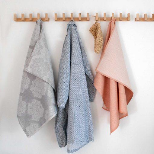 Towels and kimono bathrobe