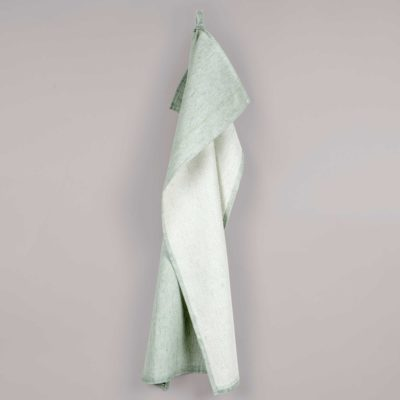 Tea towel, linen/cotton, aqua green