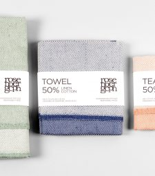 Towels, in packaging